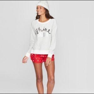 EUC Target shine bright gray sequin sweatshirt
